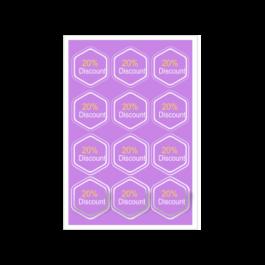 01 - Qtde: 1 à 50 Unid. FOLHA 330X480MM COM CORTE ESPECIAL/ADESIVO PAPEL Adesivo papel Tam. da arte: 330x480 - Tam. final: 315x465 4x0