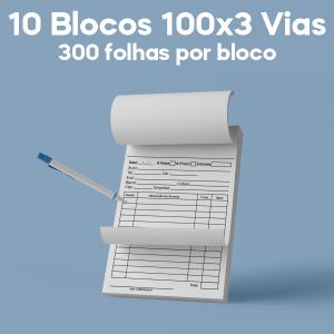 01 -  QTDE: 10UNID. / BLOCOS E TALOES/100 FOLHAS/AP 75G/100X3/150X105MM Apergaminhado 75g Tam. da arte: 150x105 - Tam. final: 147x102 1x0 10bl - 3x100fls, 3 via azul, Blocar bloco 100 unid Corte Reto Qtde: 10Unid. blocos 100x3 via
