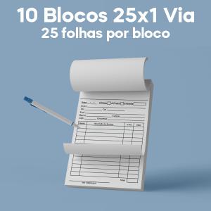 01 -  QTDE: 10UNID. / BLOCOS E TALOES/25 FOLHAS/AP 90G/25X1/300X210MM Ap 90g Tam. da arte: 300x210 - Tam. final: 297x207 1x0 10bl - 1x50fls, Blocar bloco 10 unid Corte Reto Qtde: 10Unid. blocos 50x1 via
