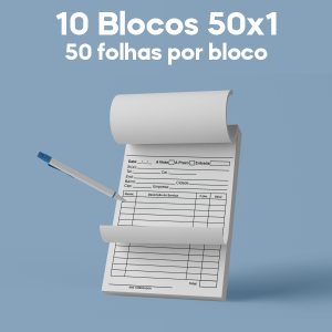 01 -  QTDE: 10UNID. / BLOCOS E TALOES/50 FOLHAS/AP 75G/50X1/150X210MM Apergaminhado 75g Tam. da arte: 150x210 - Tam. final: 147x207 1x0 10bl - 1x50fls, Blocar bloco 50 unid Corte Reto Qtde: 10Unid. blocos 50x1 via