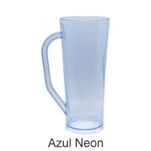 01 - Qtde: 25 Unid. COPO LONG DRINK COM ALÇA / NEON /IMPRESSAO 4 COR / AZUL  Tam. da arte: 60x120 - Tam. final: 60x120 4x0 Sem verniz  BRINDE
