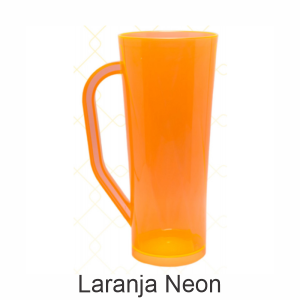 01 - Qtde: 25 Unid. COPO LONG DRINK COM ALÇA / NEON / IMPRESSAO 4 COR / LARANJA  Tam. da arte: 60x120 - Tam. final: 60x120 4x0 Sem verniz  BRINDE
