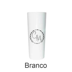 01 - Qtde: 25 Unid. COPO LONG DRINK / IMPRESSAO 4 COR / LEITOSO / BRANCO  Tam. da arte: 60x120 - Tam. final: 60x120 4x0 Sem verniz  BRINDE