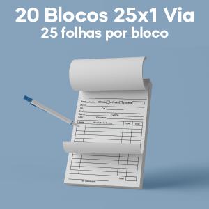 02 -  QTDE: 20UNID. / BLOCOS E TALOES/25 FOLHAS/AP 75G/25X1/300X210MM Ap 75g Tam. da arte: 300x210 - Tam. final: 297x207 1x0 20bl - 1x50fls, Blocar bloco 20 unid Corte Reto Qtde: 20Unid. blocos 50x1 via