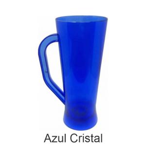 02 - Qtde: 50 Unid. COPO LONG DRINK COM ALÇA / TRANSPARENTE / IMPRESSAO 4 COR / AZUL  Tam. da arte: 60x120 - Tam. final: 60x120 4x0 Sem verniz  BRINDE