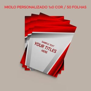 03 -  100 UNID. CADERNETA/BROCHURA/MIOLO PERSONALIZADO/ABERTURA HORIZONTAL/COUCHE 250G/50 FOLHAS/105X150MM Capa Couchê 250g / Miolo Ap 90g Tam. da arte: 215x150 - Tam. final: 102x147 1x0  Corte Reto