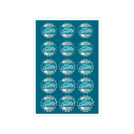 03 - Qtde: 101 à 150 Unid. FOLHA 330X480MM COM CORTE ESPECIAL/ADESIVO PAPEL Adesivo papel Tam. da arte: 330x480 - Tam. final: 315x465 4x0