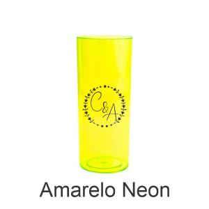 03 - Qtde: 200 Unid. COPO LONG DRINK / NEON / IMPRESSAO 4 COR / AMARELO  Tam. da arte: 60x120 - Tam. final: 60x120 4x0 Sem verniz  BRINDE