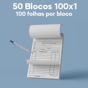 03 -  QTDE: 50UNID. / BLOCOS E TALOES/100 FOLHAS/AP 56G/100X1/150X105MM Apergaminhado 56g Tam. da arte: 150x105 - Tam. final: 147x102 1x0 50bl - 1x100fls, Blocar bloco 100 unid Corte Reto Qtde: 50Unid. blocos 100x1 via