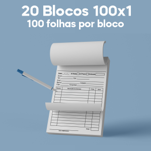 02 -  QTDE: 20 UNID. / BLOCOS E TALOES/100 FOLHAS/AP 56G/100X1/150X105MM Apergaminhado 56g Tam. da arte: 150x105 - Tam. final: 147x102 1x0 20bl - 1x100fls, Blocar bloco 100 unid Corte Reto Qtde: 20Unid. blocos 100x1 via